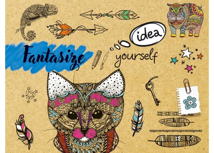 """Sketchbook 48 pages 197х145mm """"Fantasize"""""""