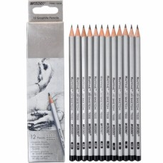 Graphite pencils 3H, 2H, H, HB, B, 2B, 3B, 4B Marco Raffine 12 pieces (7000-12CB)