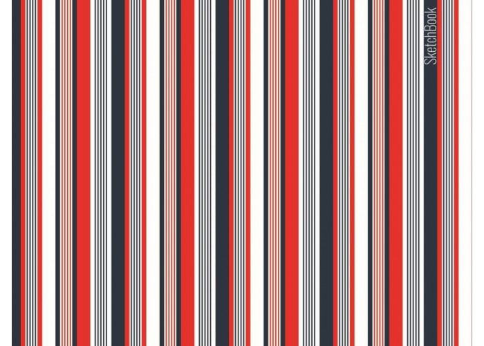 "Sketchbook 48 pages 197х145mm ""Stripes"""