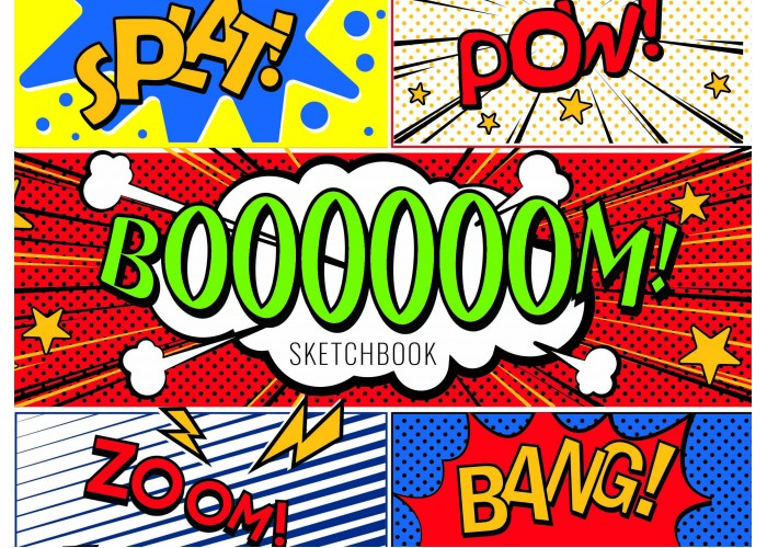 "Sketchbook 36 pages 197х145mm ""Boom"""