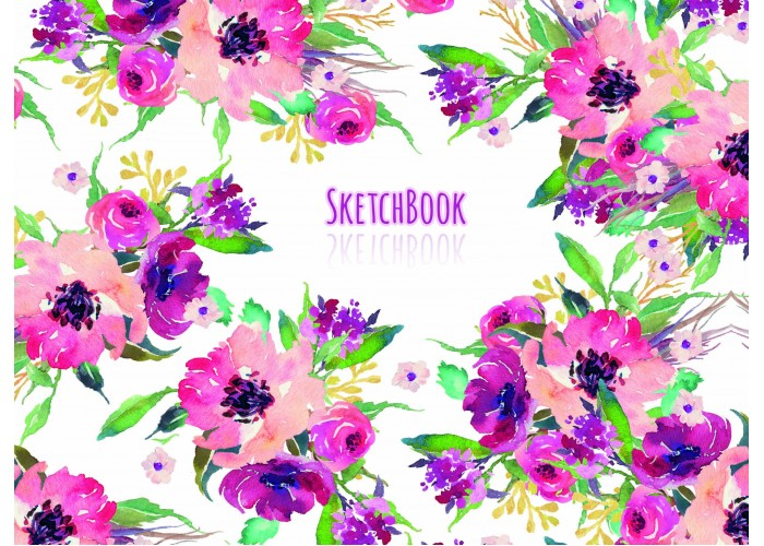 "Sketchbook 36 pages 197х145mm ""Flowers"""