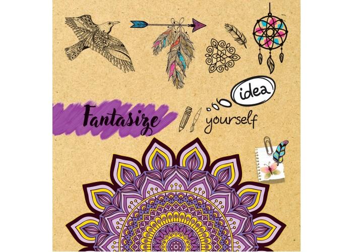 """Sketchbook 48 pages 195х195mm """"Fantasize"""""""