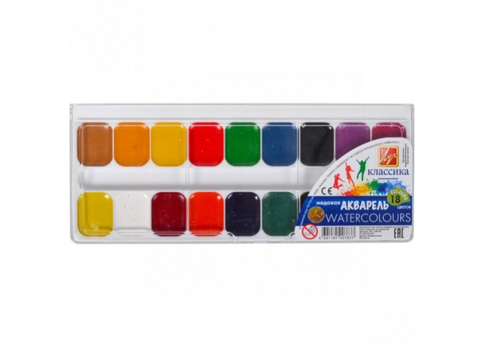 """Watercolor Luch """"Classic"""" 18 colors"""