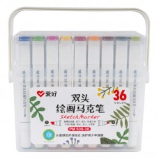 Sketch markers set Aihao 36 colors PM508-36