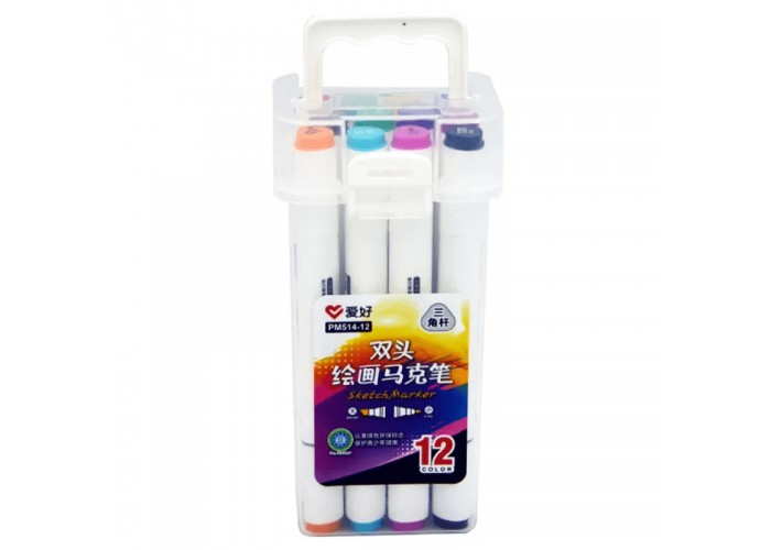 Sketch markers set Aihao 12 colors PM514-12