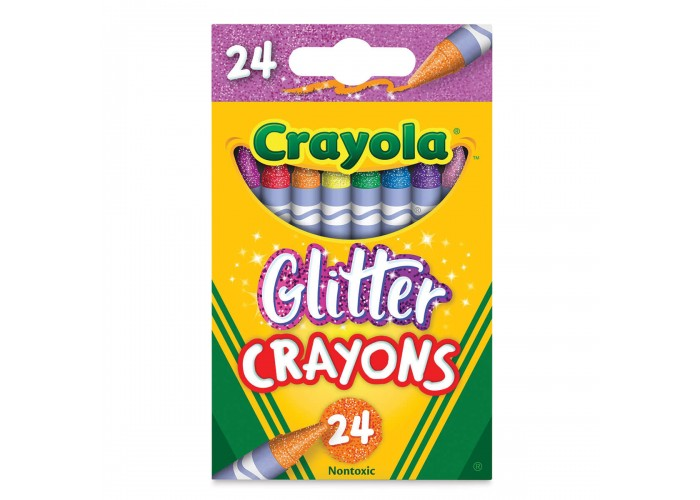 Wax pastel Crayola Glitter 24 colors