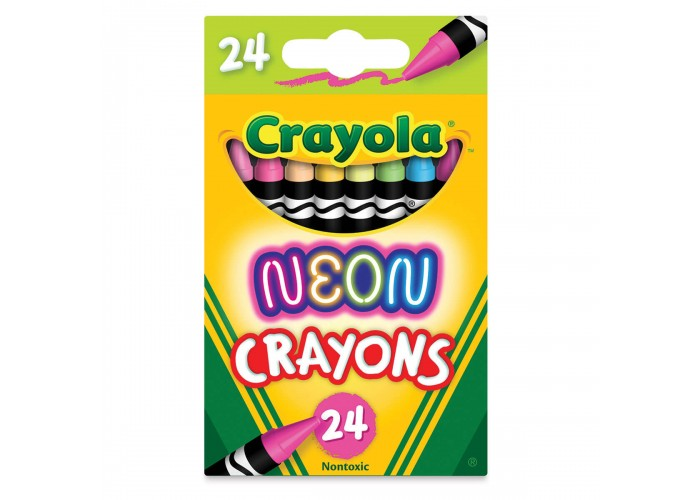 Wax pastel Crayola Neon 24 colors