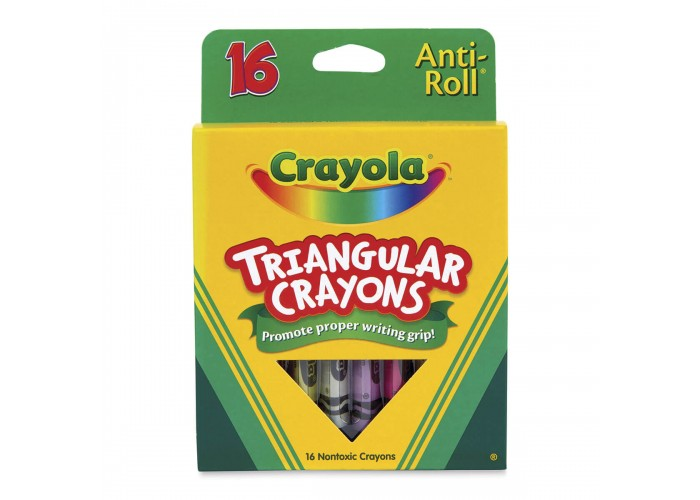 Wax pastel Crayola Triangular 16 colors