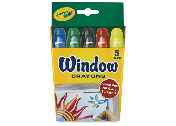 Wax pastel Crayola Window 5 colors