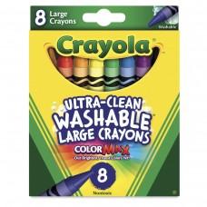 Wax pastel Crayola Washable Large 8 colors