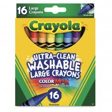 Wax pastel Crayola Washable Large  16 colors