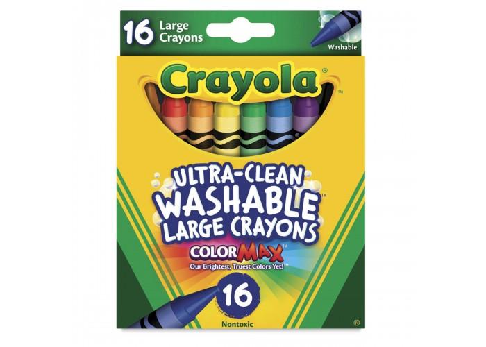 Wax pastel Crayola Washable Large  16 colors