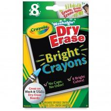 Wax pastel Crayola Dry Erase Bright 8 colors