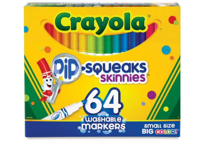 Felt tip markers Crayola Pip Squeaks small 64 colors