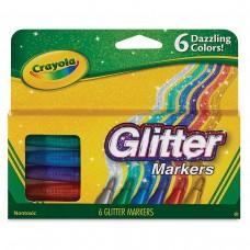 Felt tip markers Crayola Glitter 6 colors