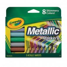 Felt tip markers Crayola Metallic 8 colors
