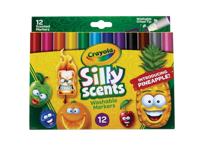 Felt tip markers Crayola Silly Scents 12 colors