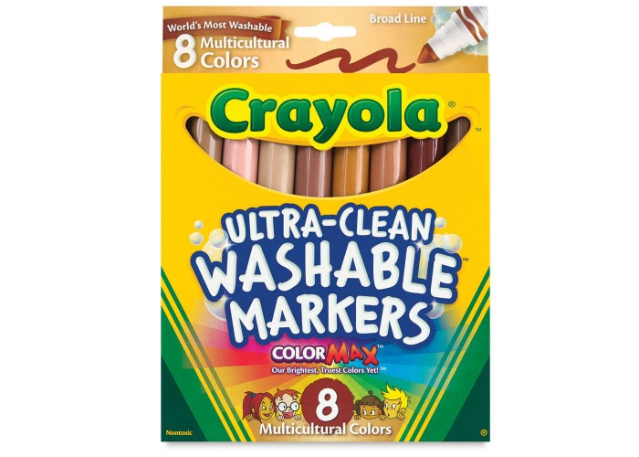 Felt tip markers Crayola Multicultural 8 colors