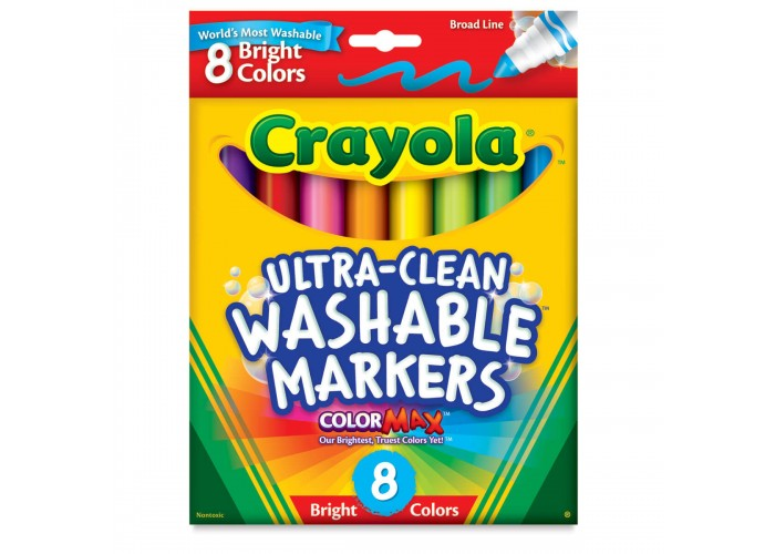 Felt tip markers Crayola Washable bright 8 colors