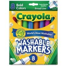 Felt tip markers Crayola Washable bold 8 colors