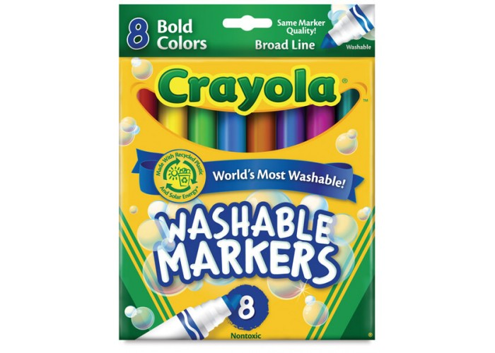 Felt tip markers Crayola Washable bold 8 colors