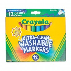 Felt tip markers Crayola Washable broad 12 colors