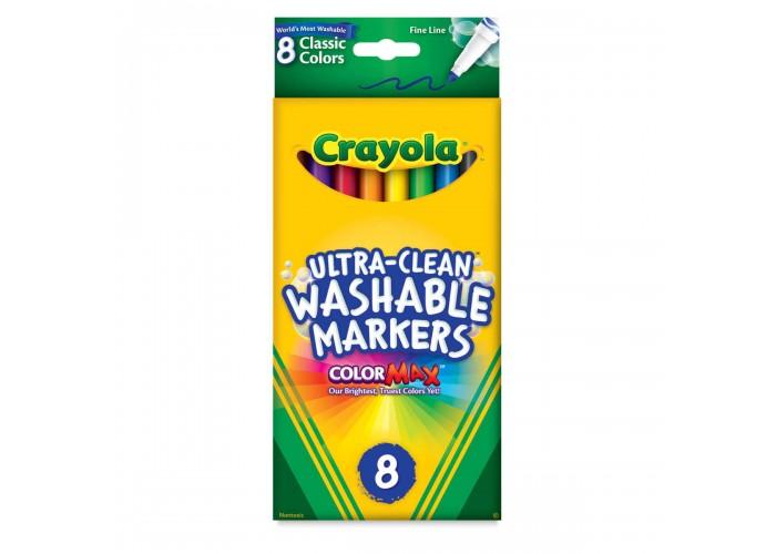 Felt tip markers Crayola Washable thin 8 colors
