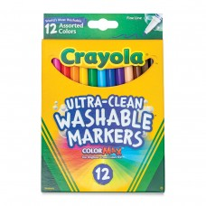 Felt tip markers Crayola Washable thin 12 colors