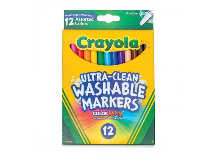 Felt tip markers Crayola Washable thin 12 colors