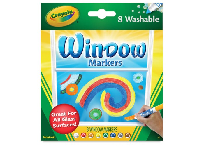 Felt tip markers Crayola Window 8 colors