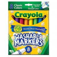 Felt tip markers Crayola Washable Classic 8 colors
