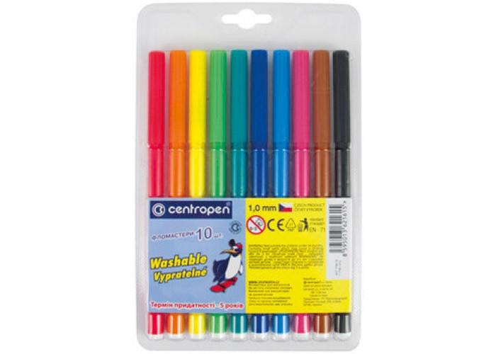 Felt tip markers Centropen 10 colors (7790-10)