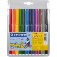 Felt tip markers Centropen 12 colors (7790-10)