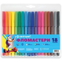 Felt tip markers Centropen 18 colors (7790-18)