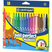 Felt tip markers Centropen Just Perfect 18 colors (2510-18)