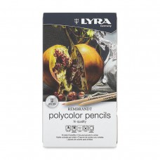 Colored pencils Lyra Rembrandt Polycolor 12 colors in metallic case