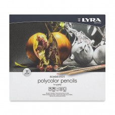Colored pencils Lyra Rembrandt Polycolor 24 colors in metallic case