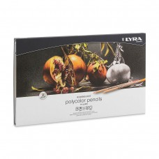 Colored pencils Lyra Rembrandt Polycolor 36 colors in metallic case