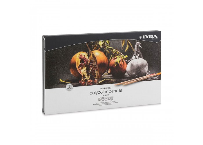 Colored pencils Lyra Rembrandt Polycolor 72 colors in metallic case
