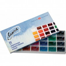 "Watercolor paint set Nevskaya Palitra ""Ladoga"" 24 colors"
