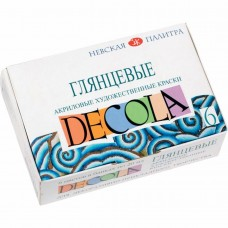 "Acrylic paint set Nevskaya Palitra ""Decola"" glossy 6 colors 20ml"
