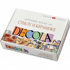 "Acrylic paint set Nevskaya Palitra ""Decola"" glass and ceramics 12 colors 20ml"