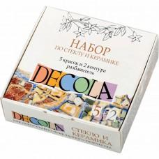 "Acrylic set Nevskaya Palitra ""Decola"" glass and ceramics 5 colors + 2 contours + thinner"