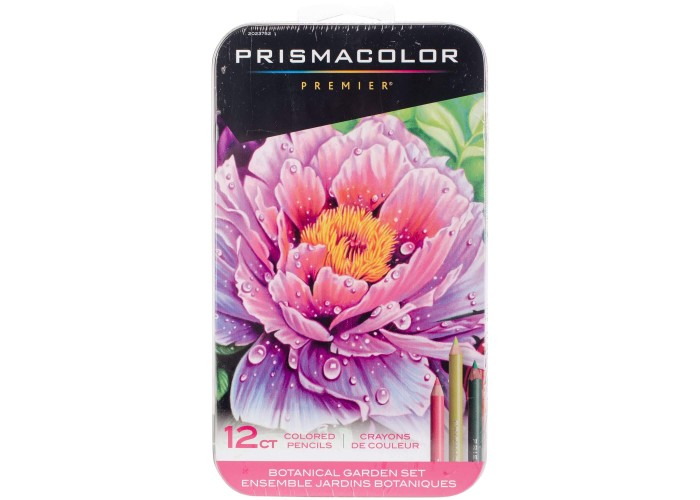 Colored pencils Prismacolor Premier Botanical 12 colors in metallic case