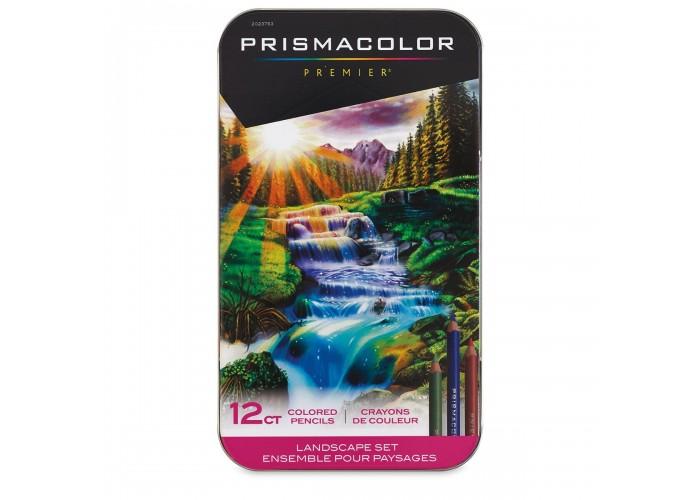 Colored pencils Prismacolor Premier Landscape 12 colors in metallic case