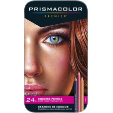 Colored pencils Prismacolor Premier - Portrait Set 24 colors in metallic case