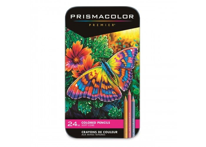 Colored pencils Prismacolor Premier 24 colors in metallic case