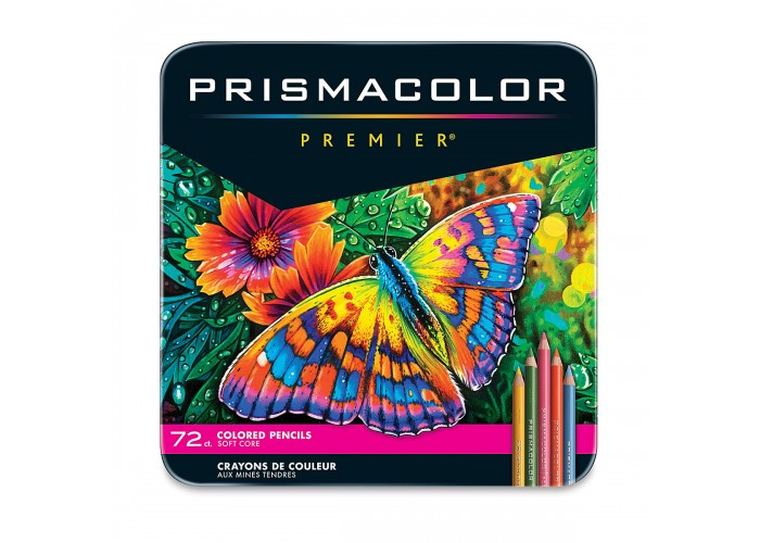 Colored pencils Prismacolor Premier 72 colors in metallic case