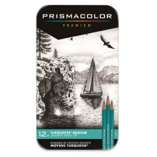 Turquoise pencils Prismacolor 4B-6H - 12 pieces