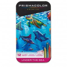 Colored pencils Prismacolor Premier Under The Sea 12 colors in metallic case